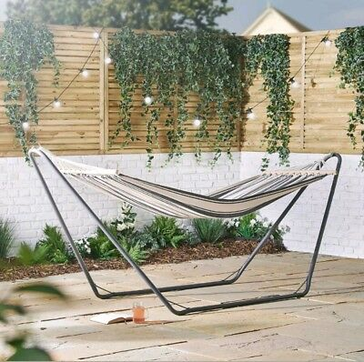 Modern Hammock with Frame Luxury Free Standing Swing Seat for Outdoor or Garden
