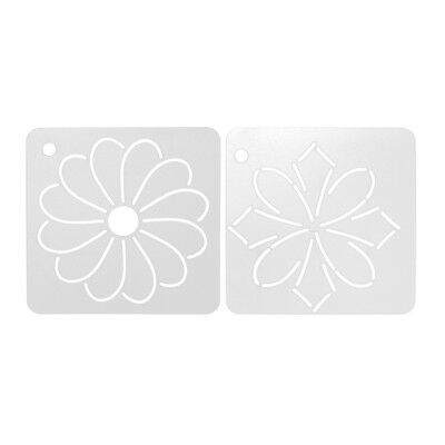 2Pcs Plastic Flower Ruler Quilt Patchwork Template Quilting Sewing Tool DIY