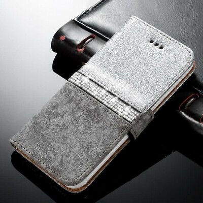 Bling Diamond Leather Magnetic Wallet Flip Case Cover For Samsung Galaxy S9 Plus