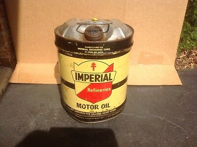 Vintage Imperial Can Oil 5 Gallon Lead Rare Household Old quart handy Shell Tin