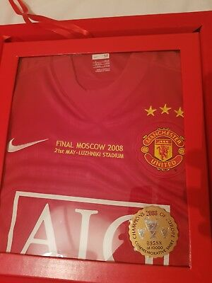 Manchester United UEFA Champions League Winners Commemorative Shirt Gift Boxed