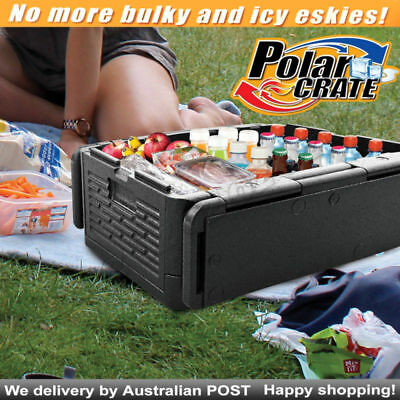 Polar Crate Insulated Collapsible Cooler KEEP FOOD DRINK CHILL Chest COLD OR HOT