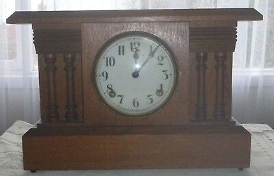 William L Gilbert  Winsted, Conn. USA Pendulum Clock with keys and pendulum