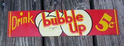 Vintage Bubble Up Tin Door Push Sign