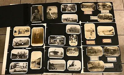 US Soldier 34 Photo Scrapbook During & After WWII Marseille, Philippines, Tokyo