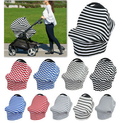 New Baby Newborn Stretchy Car Seat Canopy Cart Cover Carseat Nursing Cover