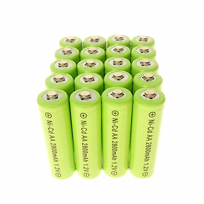 20pcs AA Rechargeable Battery NiCd 600mAh 1.2v Garden Solar Ni-Cd Light LED A20