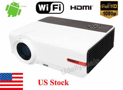 1080P FULL HD 3D 5000 Lumens Home Theater USB HDMI Video Movie LED Projector