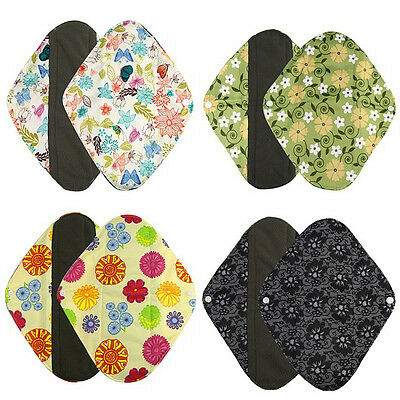 Washable Cloth Menstrual Pad Sanitary Bamboo Reusable Sanitary Panty Liners SML