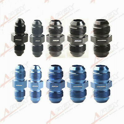 Aluminum Straight AN3 4 6 8 10 12 16 20 Male Flare Union Fitting Adapter