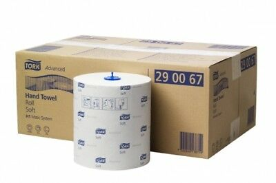 Tork Sca Advanced H1 Hand Towel Roll 290067 White 150M 2Ply Carton (6 Rolls)