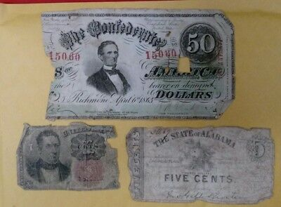 Lot of (3) Different United States Fractional Currency Notes