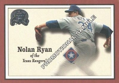 Nolan Ryan 2000 Fleer Greats Of The Game Promo Sample Card #33 Af2675