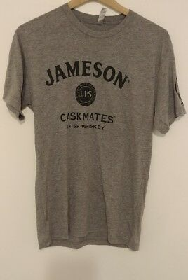New Jameson Irish Whiskey Gray Caskmates T-Shirt - Size Medium