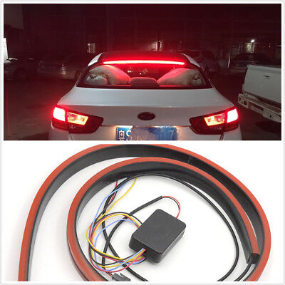 100cmFlexible Strips Car Rear Dynamic Streamer Brake Light LED Warning Lamp Bar