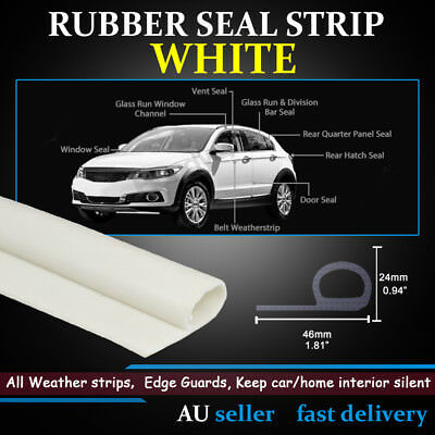 Unique White P-Look Rubber Seal Door Trunk Edge Rubber Weather Strip Protection