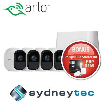 New Netgear Arlo Pro 2 VMS4430P Wire-Free HD Camera 4 Security System