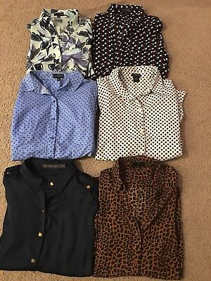 Lot Of 6 Womens Dress Shirts The Limited Ann Taylor Long Sleeve Condition Medium