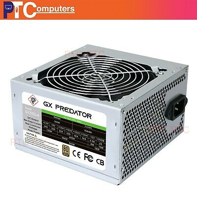 550W virtually Silent ATX Computer PC Power Supply 80 plus w/ 120mm cooling fan