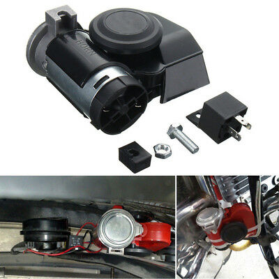12V Dual Tone Trumpet Super Loud Electric Pump Air Horn New For Car Motorcycle