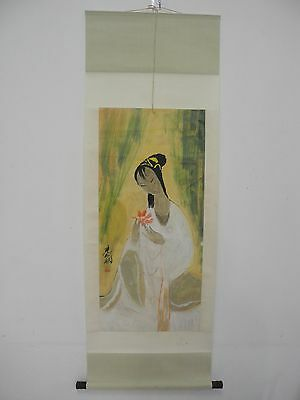 Excellent old Chinese Scroll Painting By Lin fengmian:lady Z22