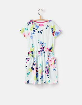 Joules 124626 Girls Short Sleeve T Shirt Dress with Capped Sleeve in Twinkle