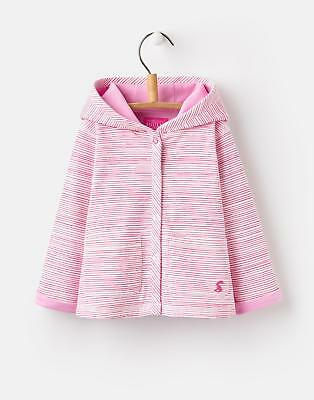 Joules 124745 Baby Girls Jersey Cover Up with 2 Front Pockets in Pink Stripe