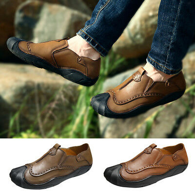 Fashion Men's Soft Faux Leather Casual Shoes Breathable Antiskid Walking Shoes
