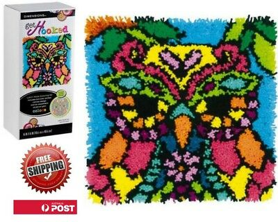 Latch Hook Rug Craft Kit Colourful Owl By Dimensions 40 X 40cm Free Postage