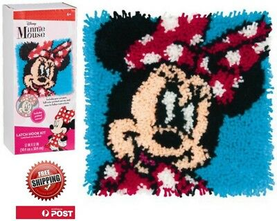 Latch Hook Rug Craft Kit Disney Mini Mouse By Dimensions 30 X 30cm Free Postage