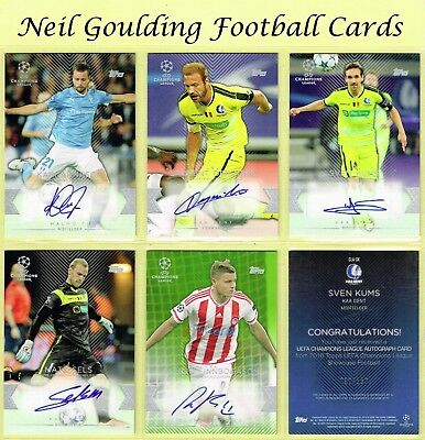 Topps CHAMPIONS LEAGUE SHOWCASE 2015-2016 ☆ SIGNED/AUTOGRAPHED ☆ Football Cards
