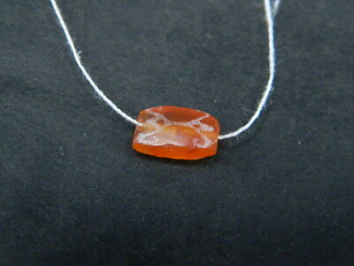 Ancient Etch Carnelian Bead Roman 200 BC  #BE5372