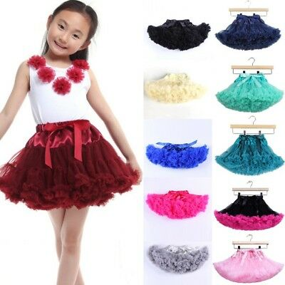 Kids Baby Girl Toddler Fluffy Tutu Dress Bowknot Skirt Party Dance Dress 0-10 Y