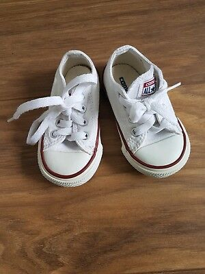 a51f0b6cb076 Converse baby girls boys trainers size UK 4 infant