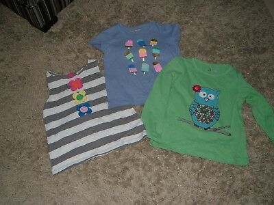 3 x Mini Boden and Laura Ashley summer tops age 6/7 years
