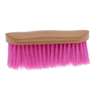 Horse Hair Face Brush Horse Grooming Brush Western English Tool Pink