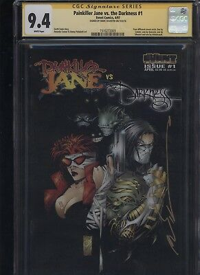 Painkiller Jane Vs. The Darkness #1 CGC 9.4 SS Marc Silvestri VARIANT COVER