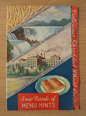 """1935 National Biscuit ADVERTISING Booklet/Recipes~""""SHREDDED WHEAT""""~Niagara Falls"""