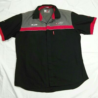 CRAIG LOWNDES V8 Mens Pit Crew Shirt Size 3XL Ford Black Grey Red Embroidery