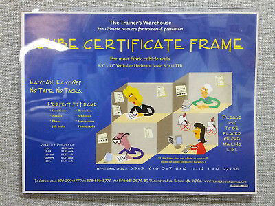 OFFICE SUPPLIES Lot of 25 Certificate Document Frames Clear BRAND NEW in PKG