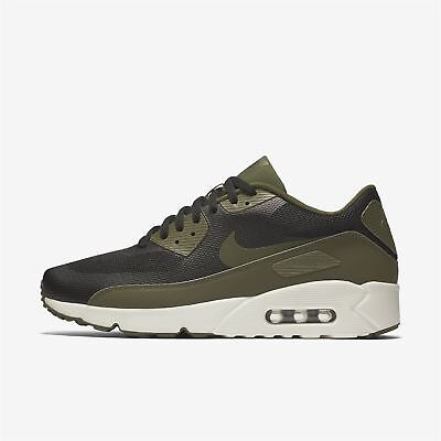 size 40 9b15c 3ab74 Nike Air Max 90 Ultra 2.0 Essential 875695 004 Mens Black-Green Uk 6-