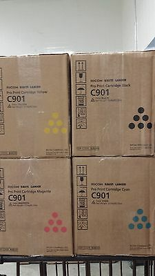 Genuine Ricoh C901 toner - set of 4 CMYK - NEW