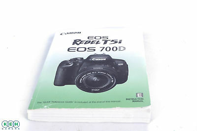 Canon EOS Rebel T5I/EOS 700D Instructions