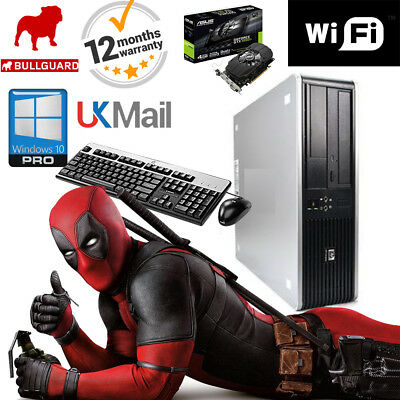 "Hp Gaming Pc Desktop 480Gb Ssd 8Gb Computer Tower Windows 10 New Gfx Hdmi 24""led"