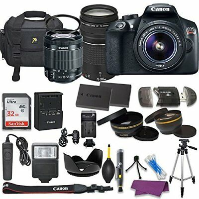 Canon EOS Rebel T6 DSLR Camera with (2) Lenses, and Deluxe Holiday Bundle