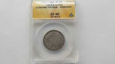 1809 -A Germany-Prussia 1/3 Thaler Silver Coin