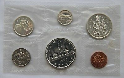 1965 Canadian 80% Sliver Proof Like 6 Coin Choice Uncirculated Mint Set