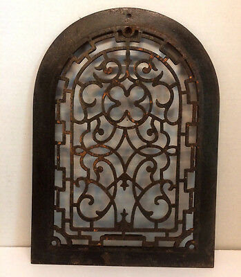 Antique Vintage Cast Iron Dome Shaped Heating Wall Grate Vent