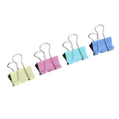 60pc 15mm Colorful Metal Binder Clips File Paper Clip Stationary Office Supplies