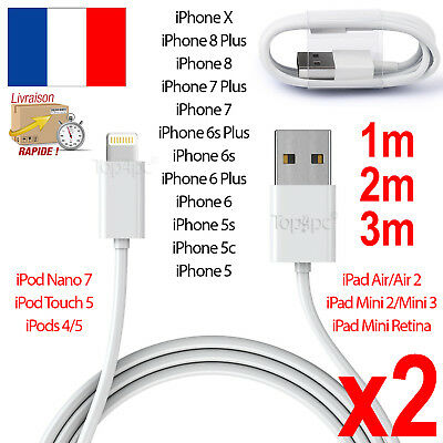Chargeur Iphone 6 - 5 5S 5C Cable Usb Data Synchro Lightning 8 Pin Ipad Pro Air
